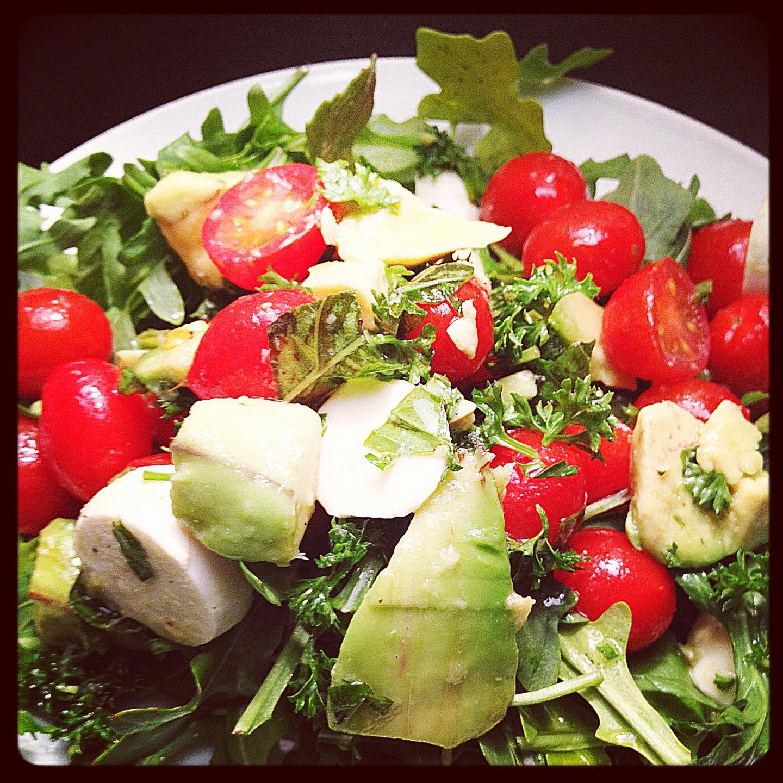 Tomato Mozzarella And Arugula Tower Recipes — Dishmaps